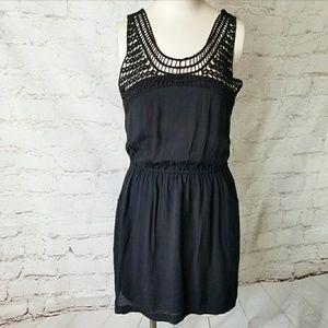 Dex 1969 Crochet Top Tank Dress Pockets Sz S